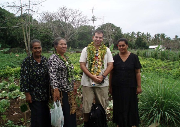 Stavros Mavrogenis learning from Tongan women about their community work for climate change adaptation.